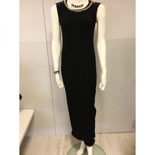 Mooie zwarte lange jurk